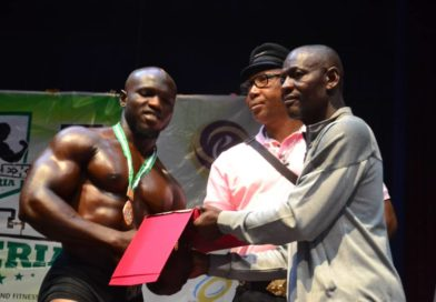 This is Abu Umah, The Mr Flex Nigeria 2019 Heavy Weight Bronze Medalist.